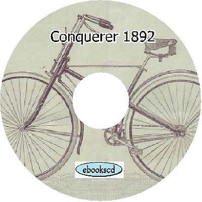 CONQUEROR 1892 vintage bicycle catalog on CD