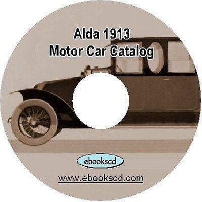 ALDA 1913 French motor car automobile auto vehicle catalog on CD