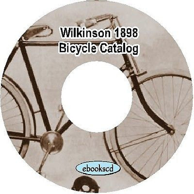 Wilkinson Sword Co. 1898 vintage bicycle catalog on CD