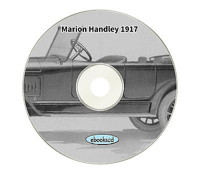 "MARION HANDLEY MODEL ""SIX"" 1917 vintage motor car automobile vehicle catalog cd"