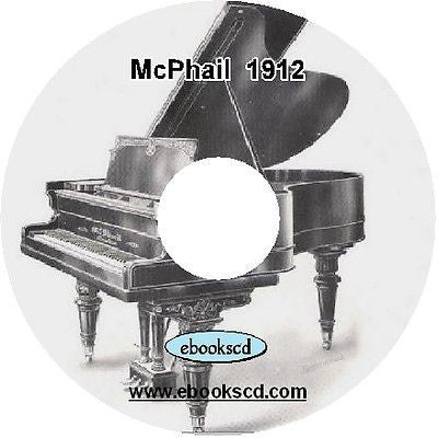 McPhail 1900's piano catalog (circa 1912) on CD ~ 26 pages
