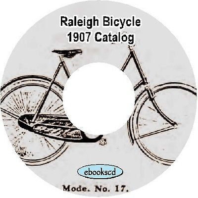 RALEIGH 1907 vintage Bicycle Catalog on CD