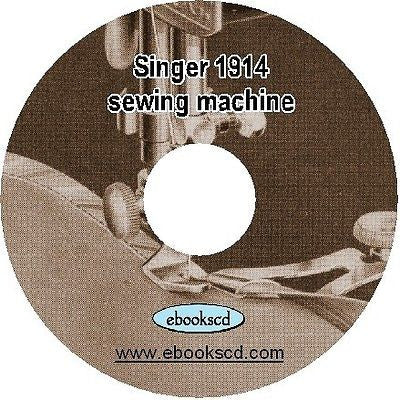 SINGER 1914 sewing machine attachments style no.14 manual guide book on CD