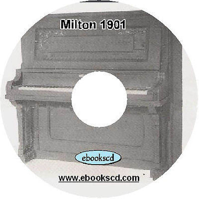 Milton 1900's piano brochure flyer (circa 1901) on CD ~ 4 pages