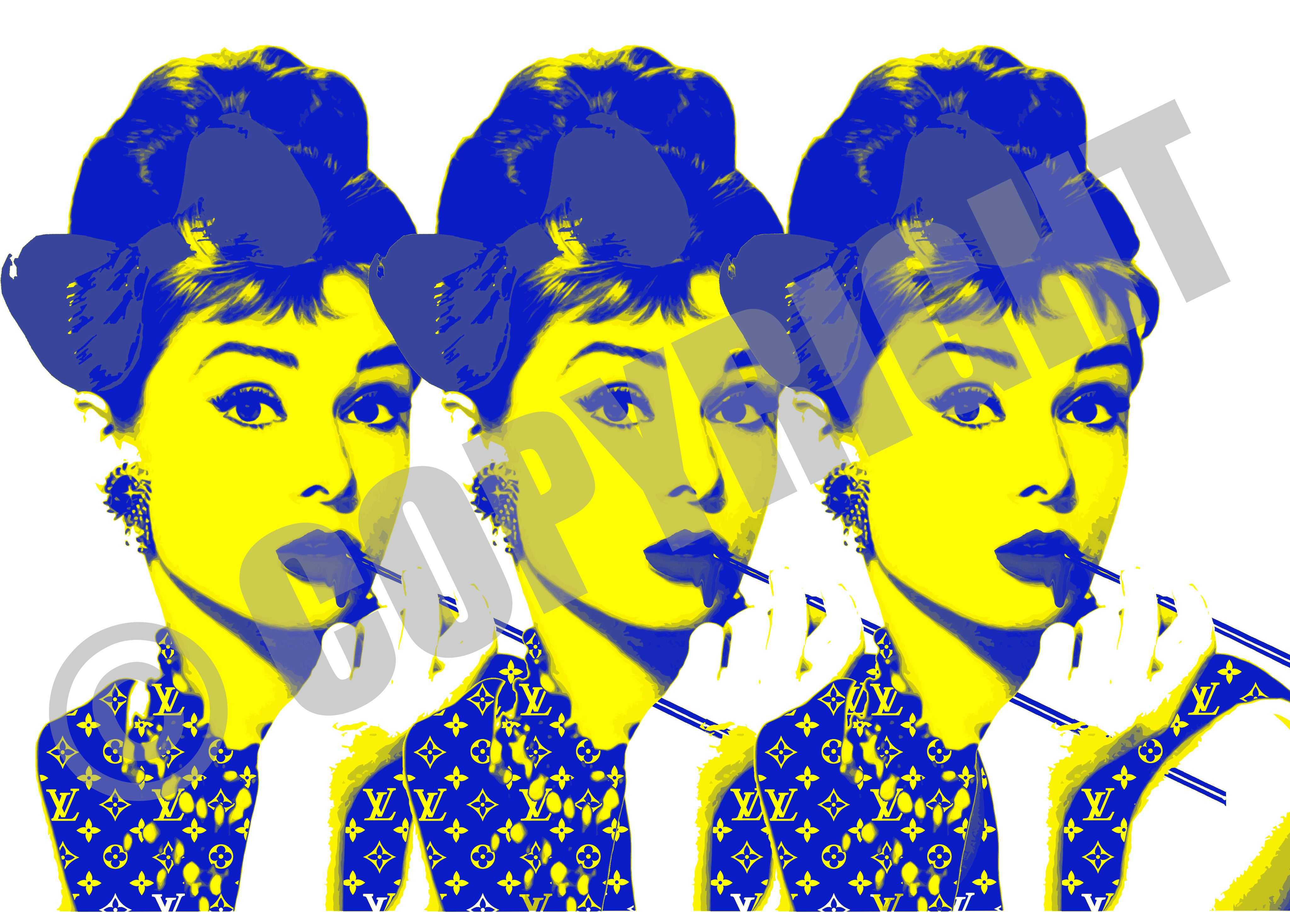 3 Audrey Yellow Blue
