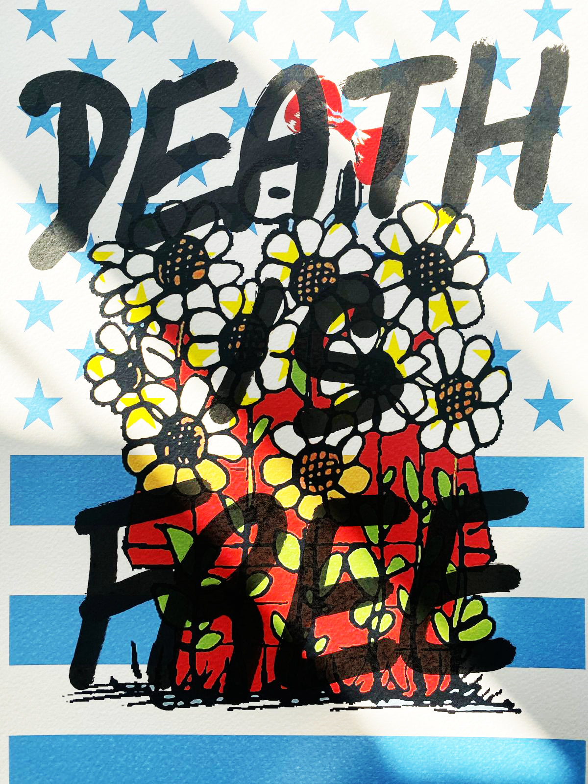 "Snoop Flower ""DEATH IS FREE"" 29x21cm (Edition of 1)"