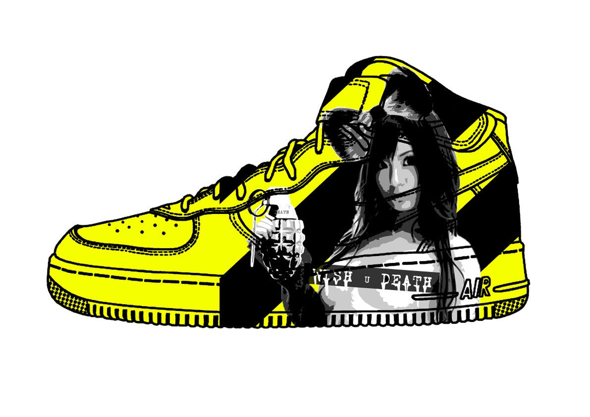 AF1 Caution Girl Yellow