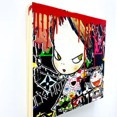 """Catch me"" Original Wooden Canvas (2020) 30cm"