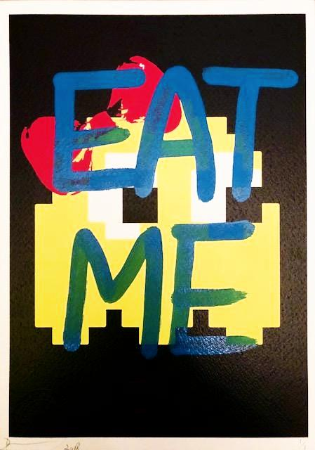 "Invade ""EAT ME"" 29x21cm (Edition of 1)"