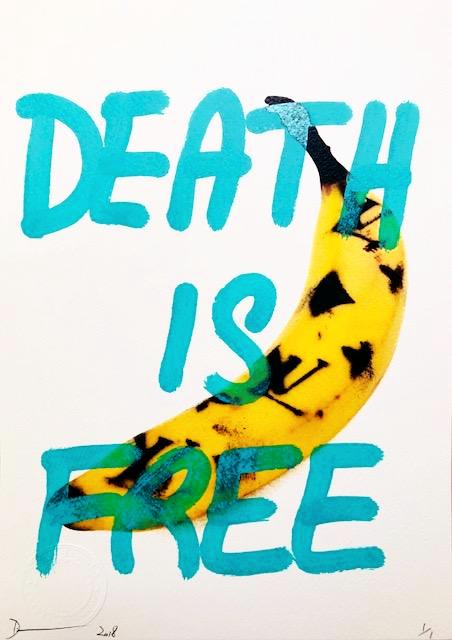 "L Banana ""DEATH IS FREE"" 29x21cm (Edition of 1)"