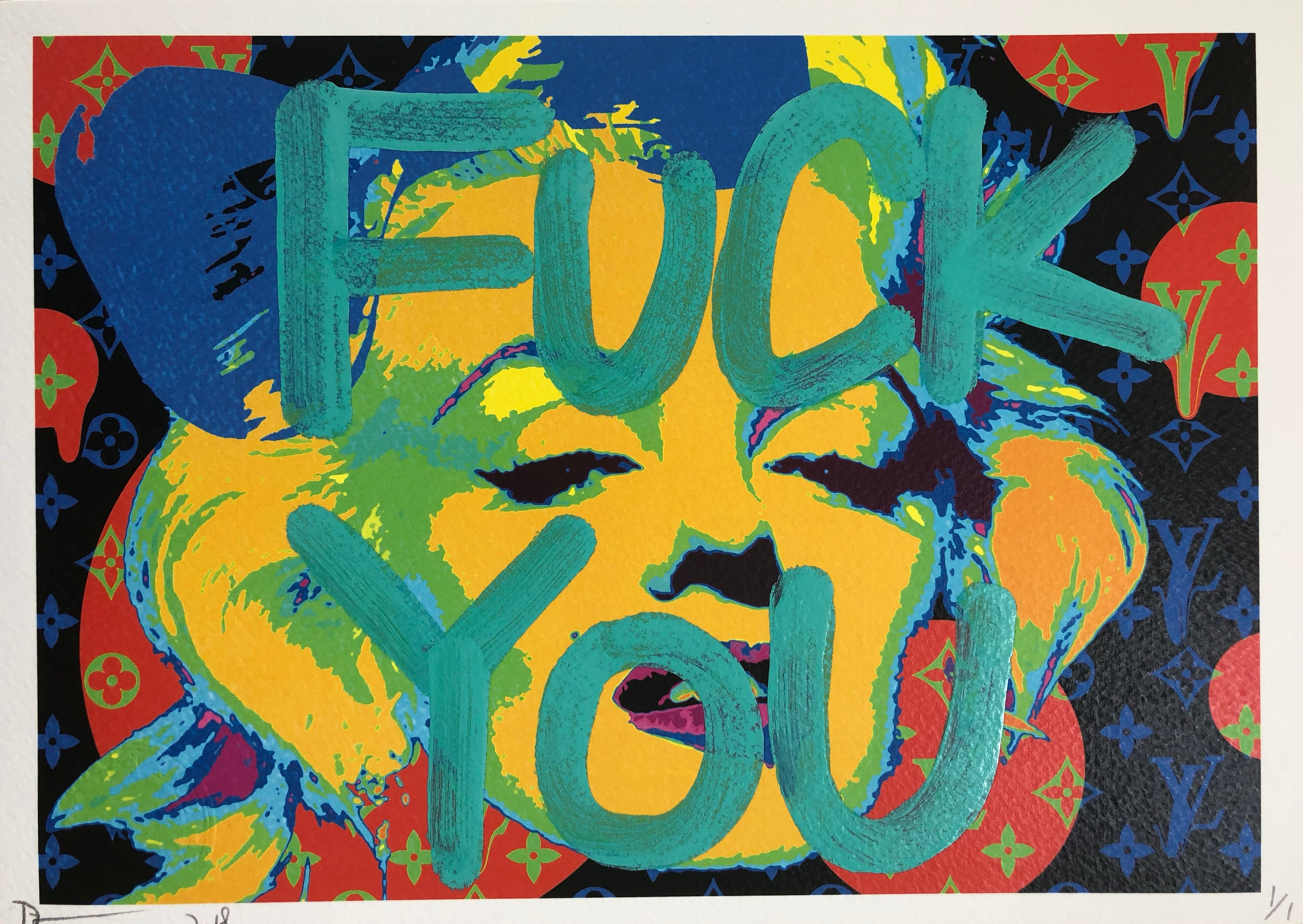 """F YOU"" 29x21cm (Edition of 1)"