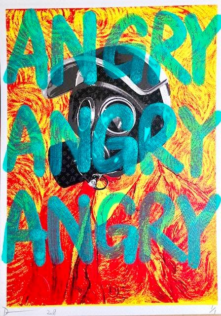 "Van Go Mask ""ANGRY"" (8"" x 12"") (Edition of 1)"