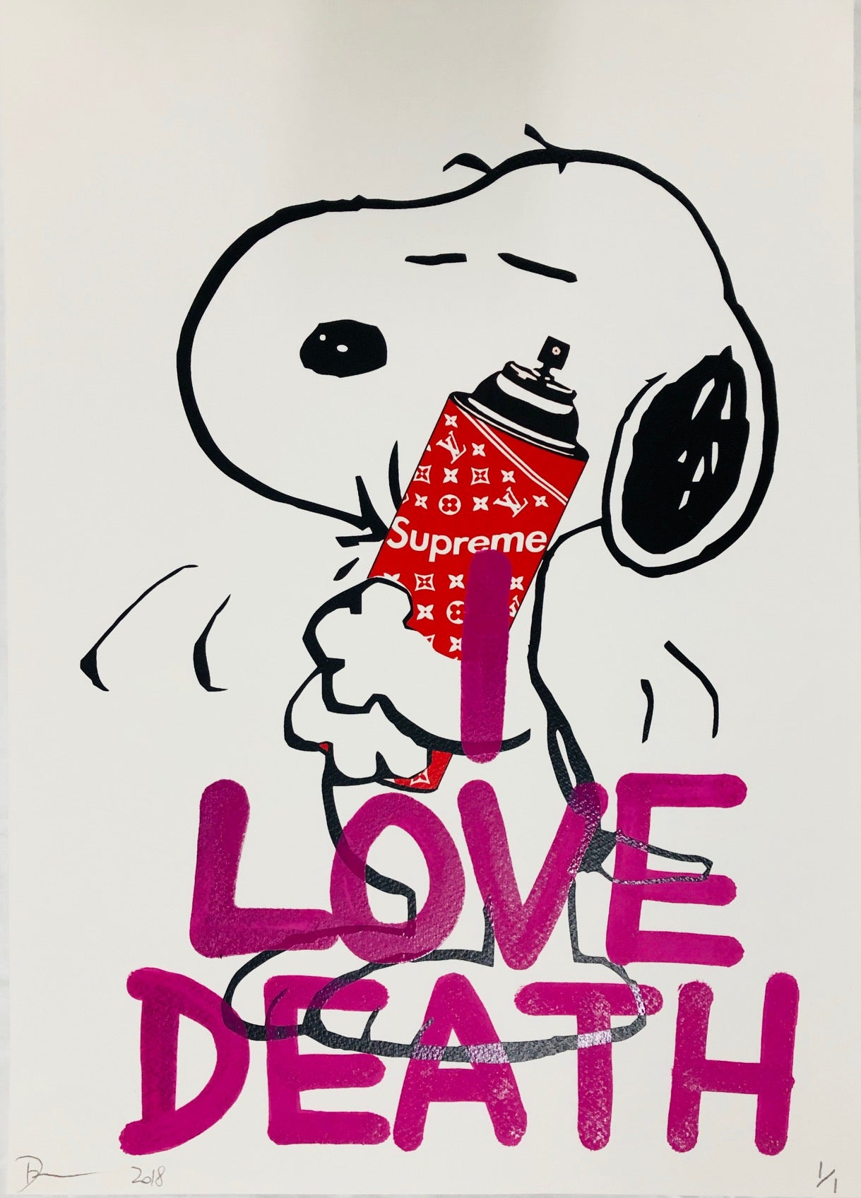 Snoop LOVE DEATH 45x32cm (Edition of 1)