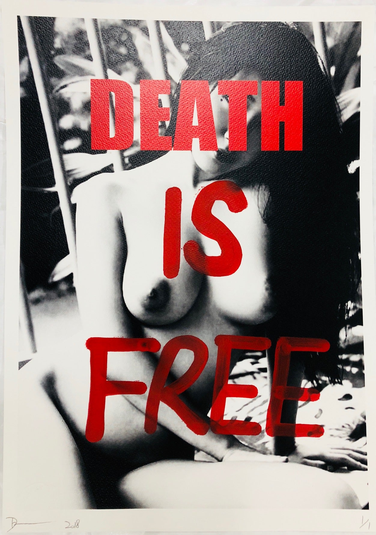Girl DEATH IS FREE 45x32cm (Edition of 1)