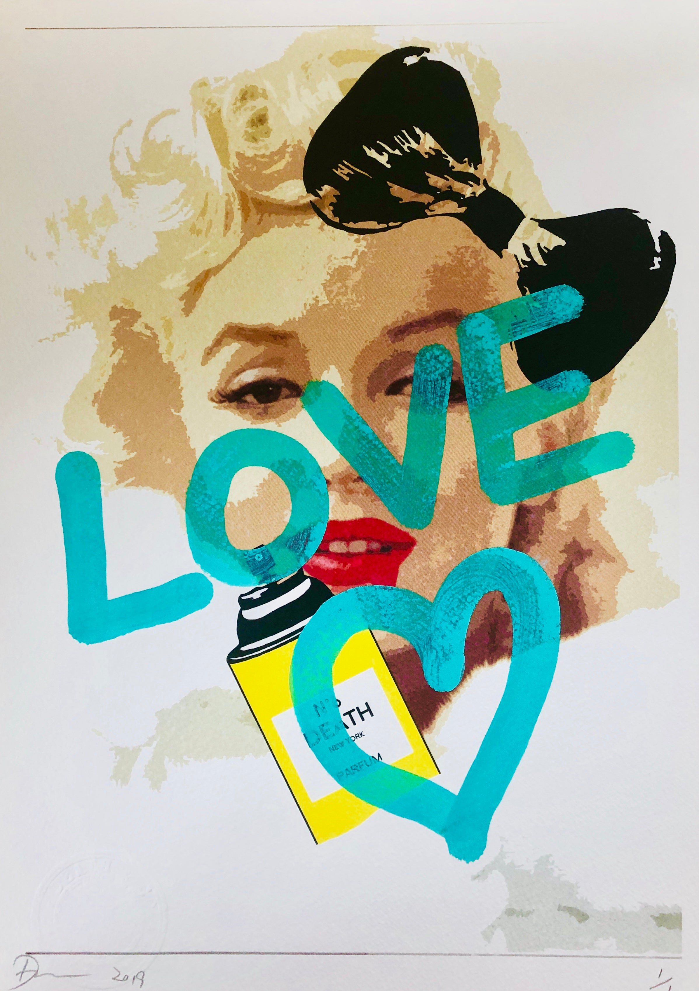 "Monroe ""LOVE Heart"" (8"" x 12"") (Edition of 1)"