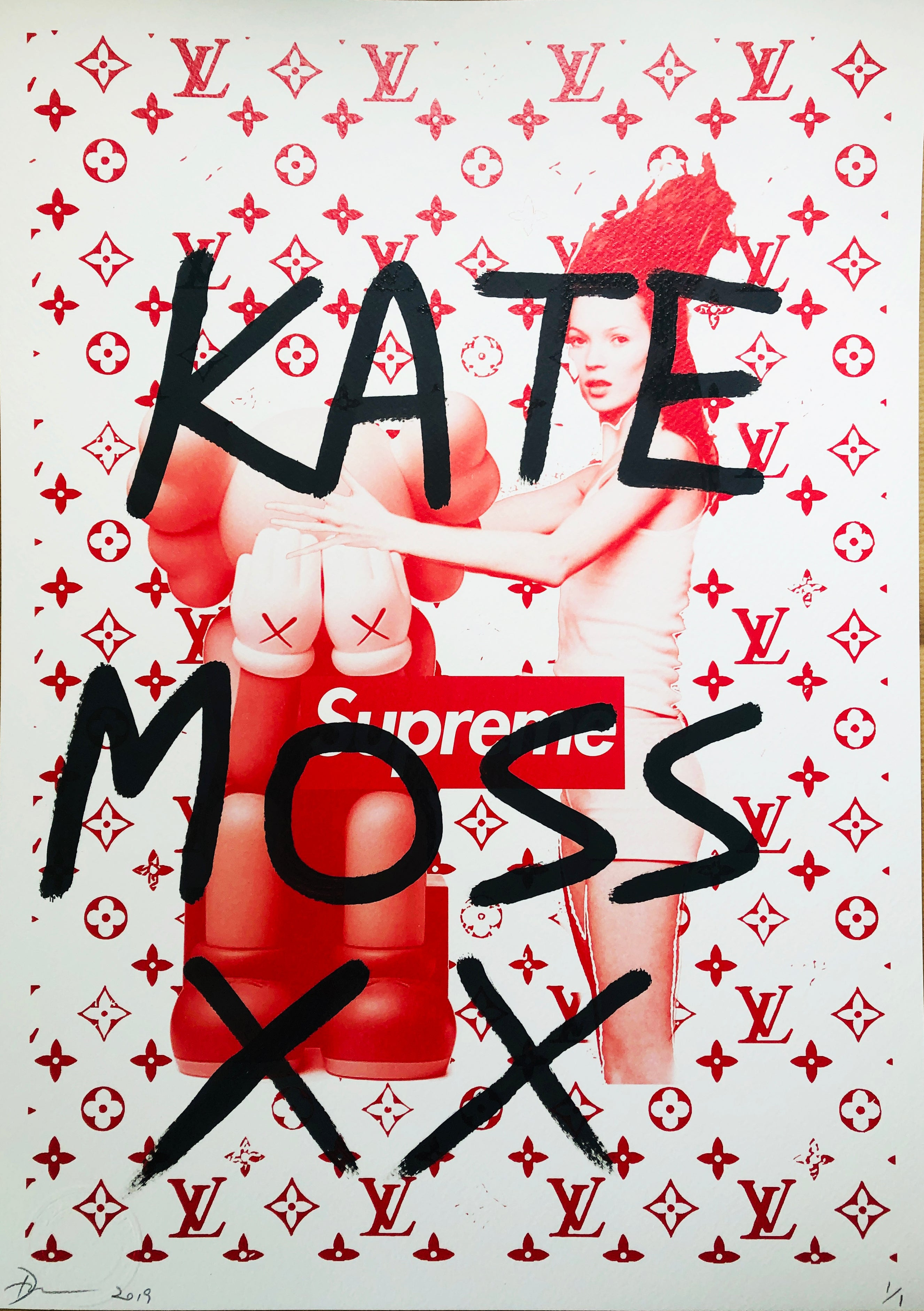 "Kate X Fading ""KATE MOSS XX"" 45x32cm (Edition of 1)"