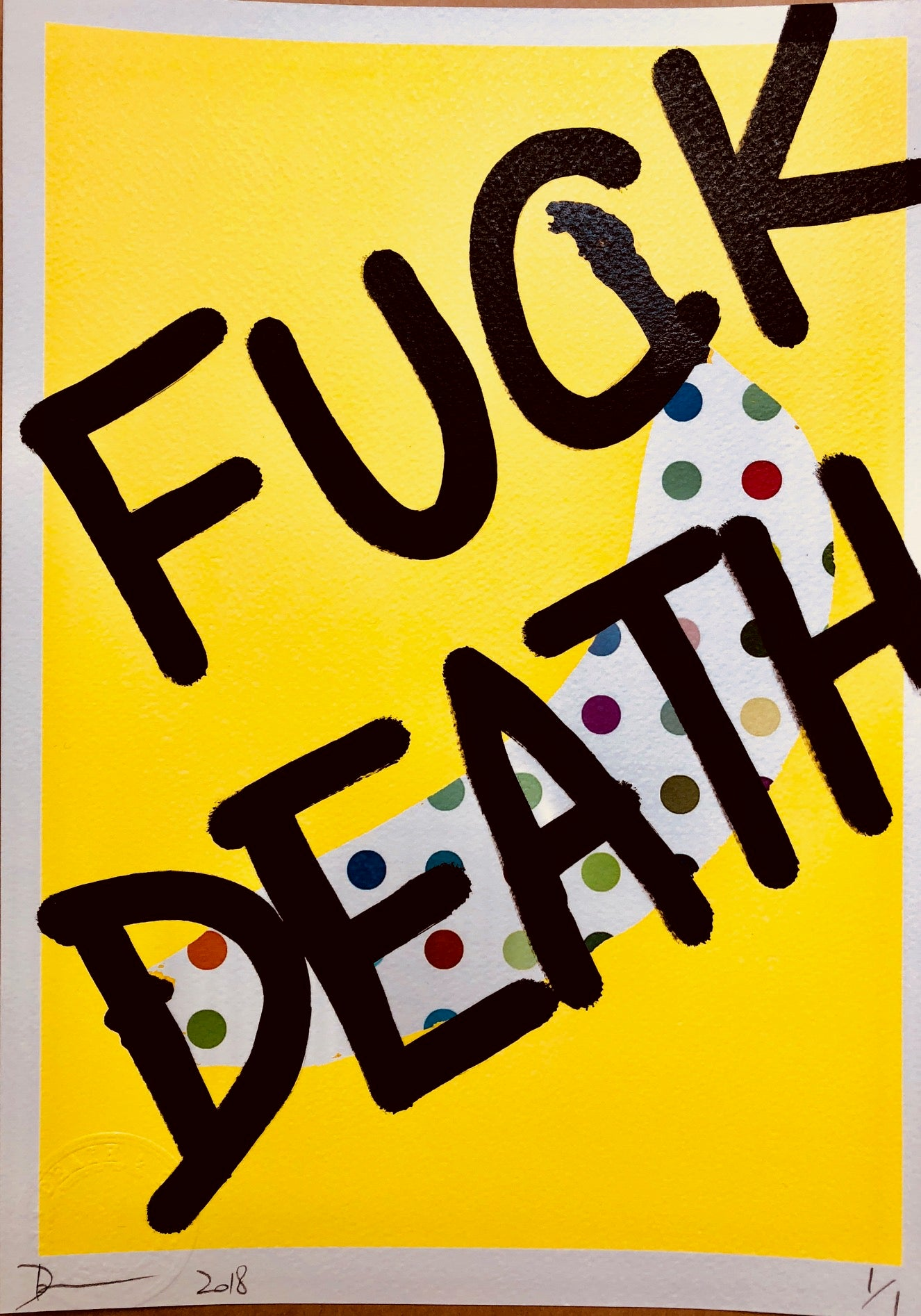 Banana FUXK DEATH 29x21cm (Edition of 1)