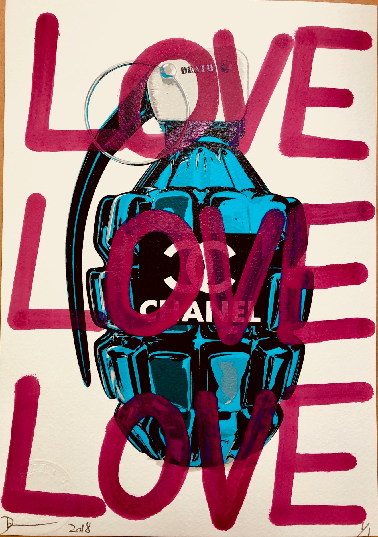 LOVE CC Bomb 29x21cm (Edition of 1)