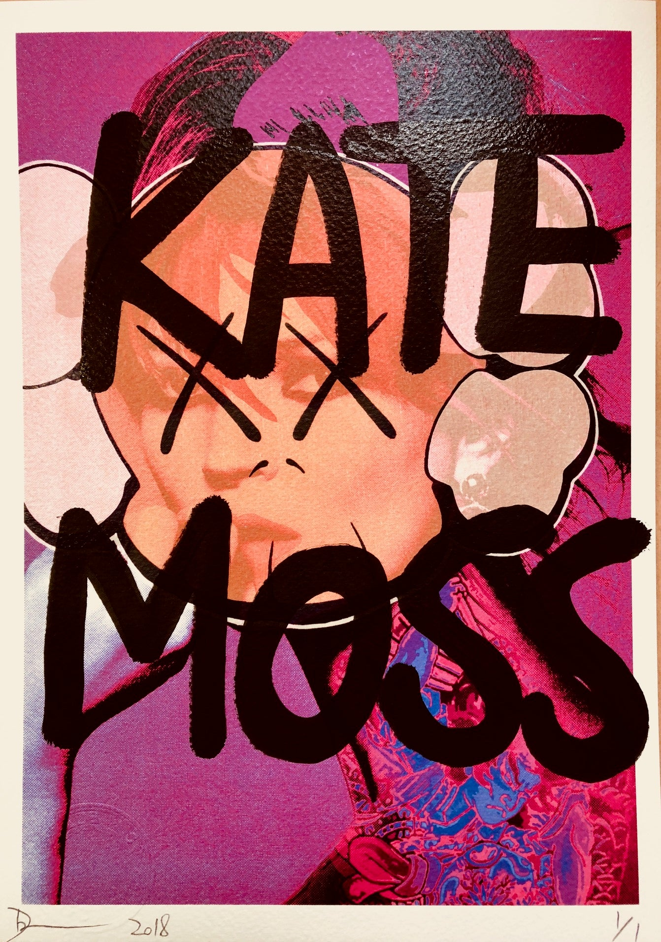 KATE MOSS XX Pink 29x21cm (Edition of 1)