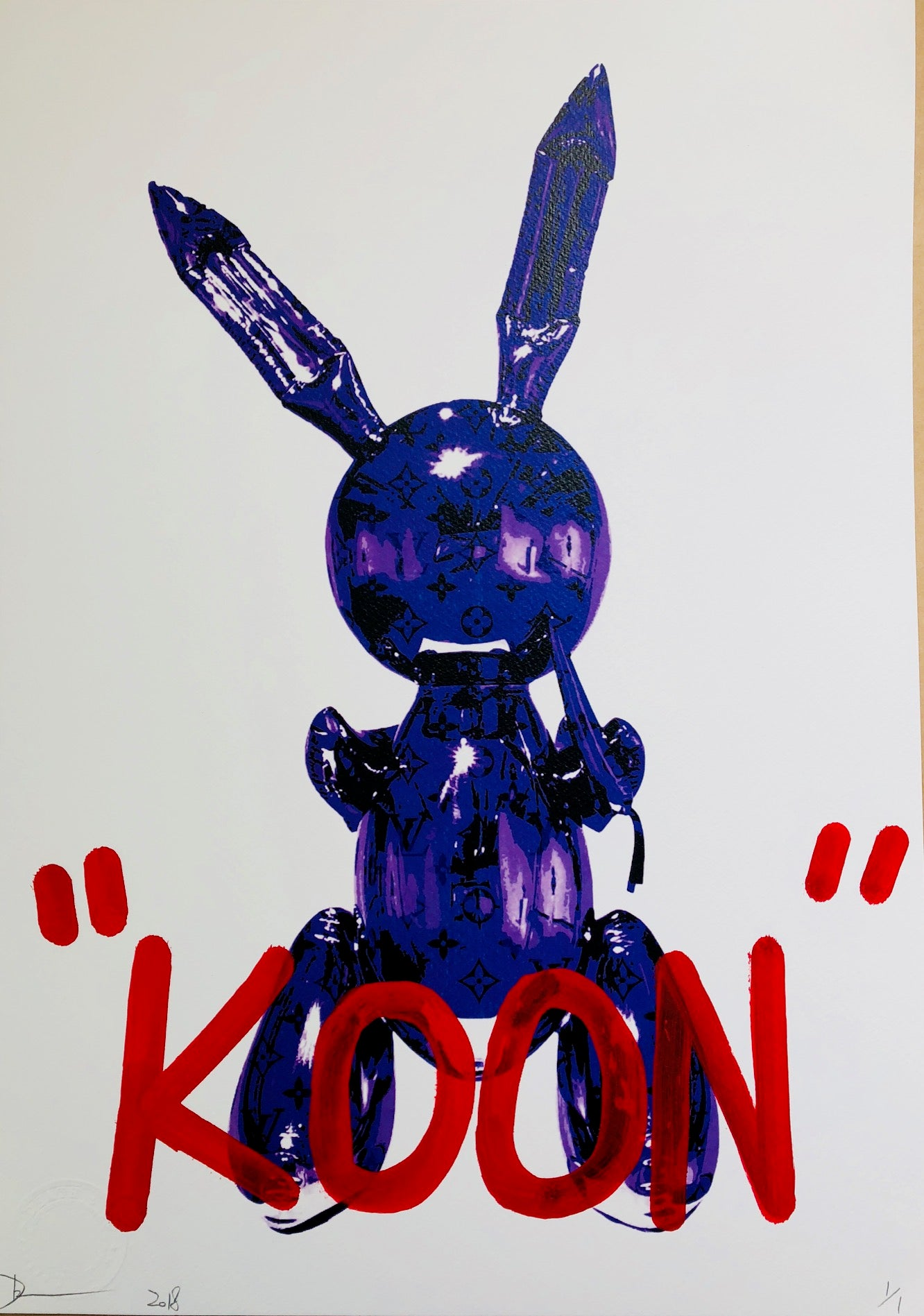 """KOON"" Rabbit 45x32cm (Edition of 1)"