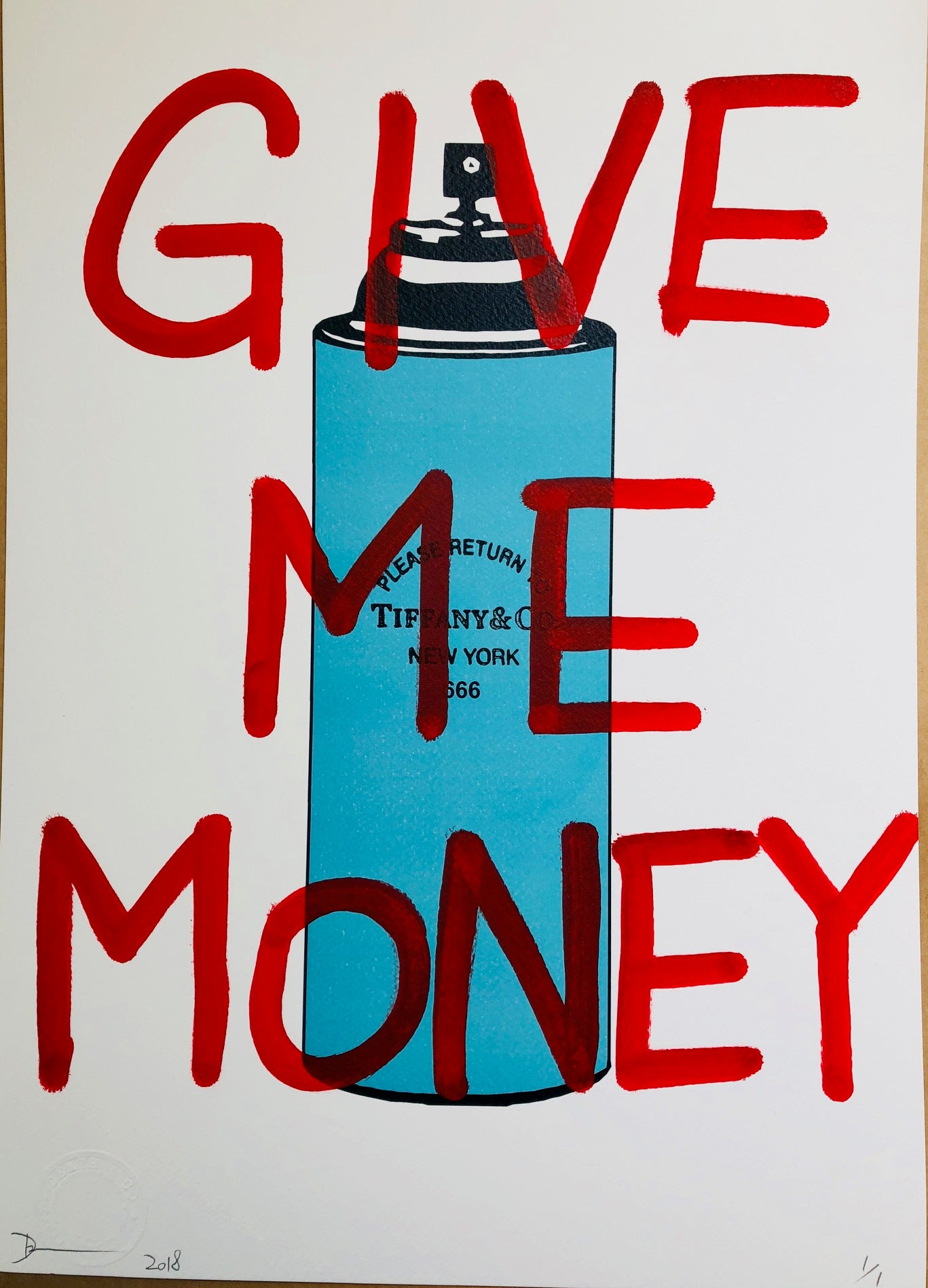 Tiff Give Me Money 45x32cm (Edition of 1)