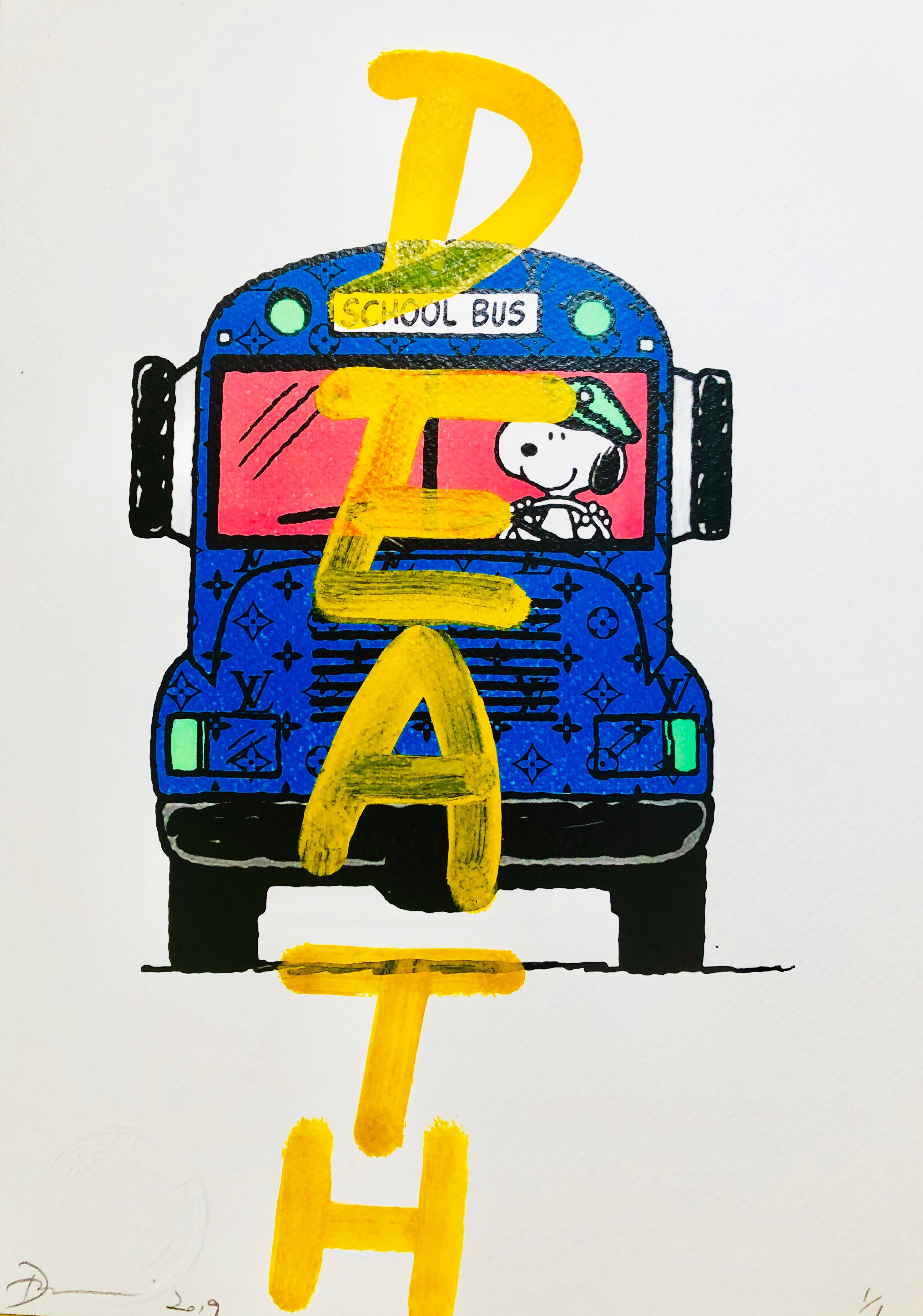 "Snoop B Bus ""DEATH"" (8"" x 12"") (Edition of 1)"