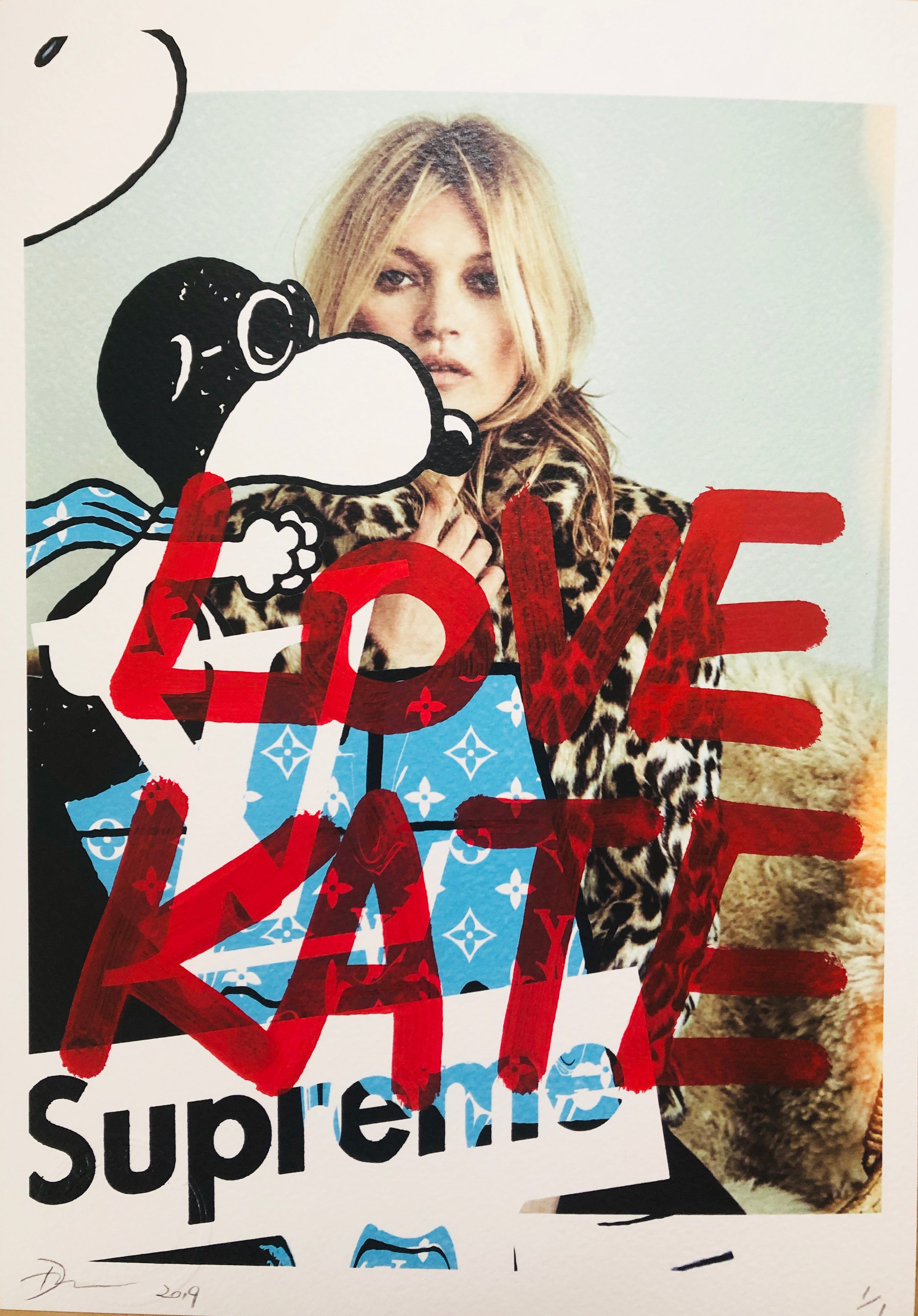 "Kate S Snoop ""LOVE KATE"" (8"" x 12"") (Edition of 1)"
