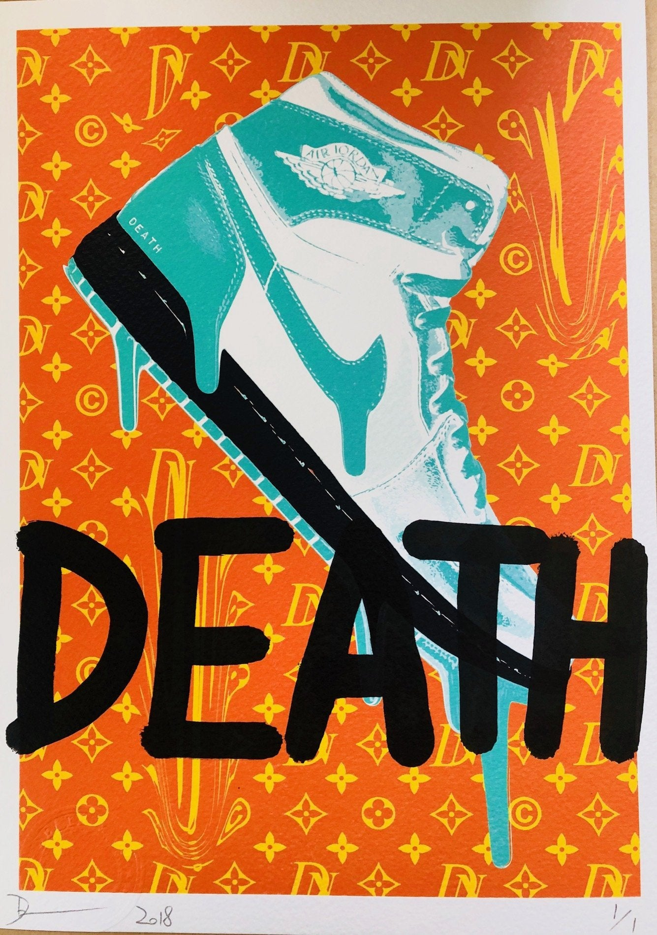 AJ DEATH 29x21cm (Edition of 1)