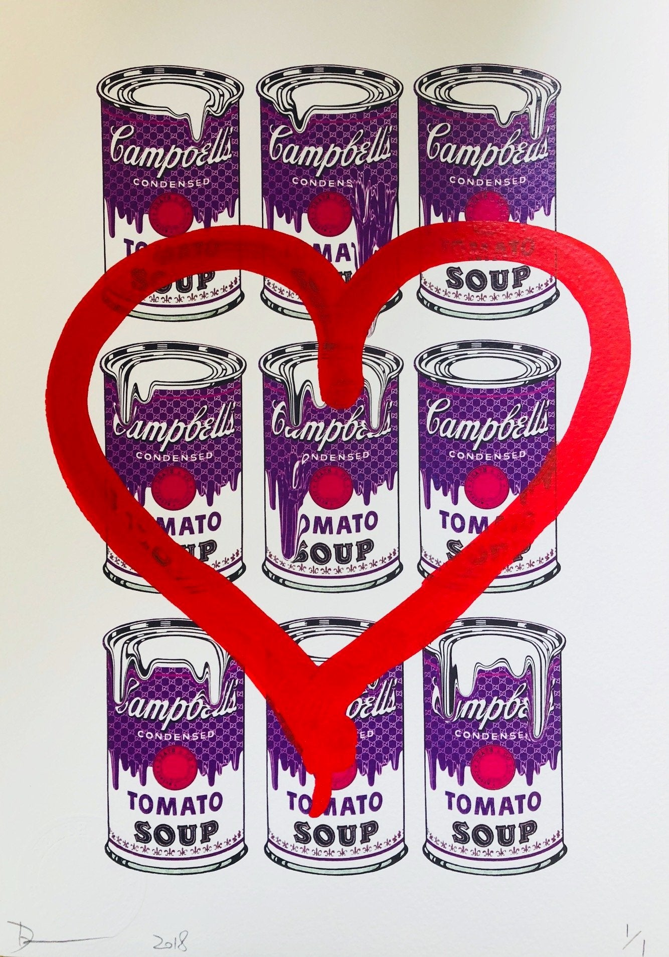 9 Can Soup Heart 29x21cm (Edition of 1)