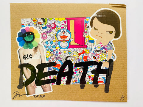 "Cardboard ""DEATH"" (2020) Edition of 1"