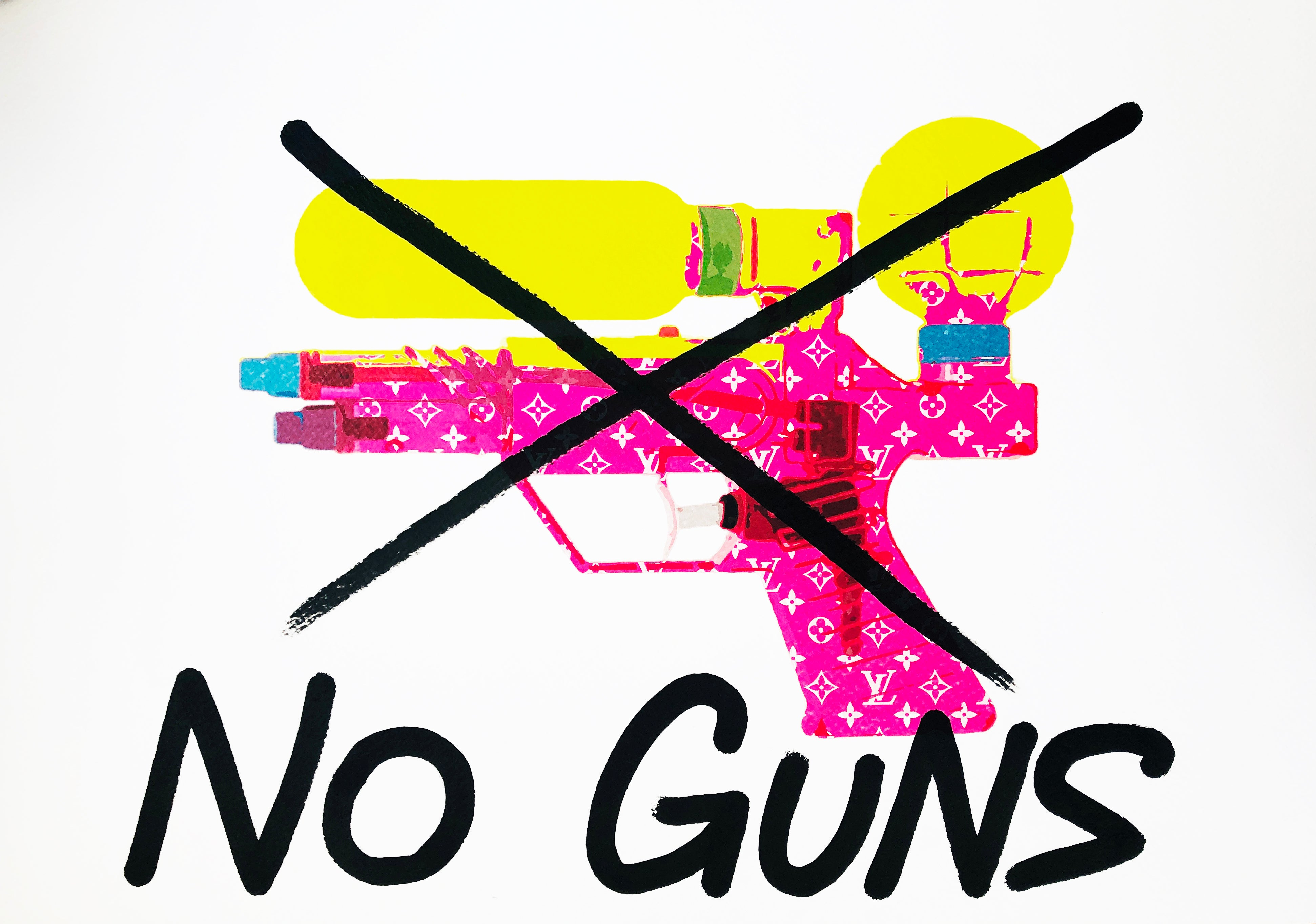 "Water Gun ""X NO GUNS"" 45x32cm (Edition of 1)"