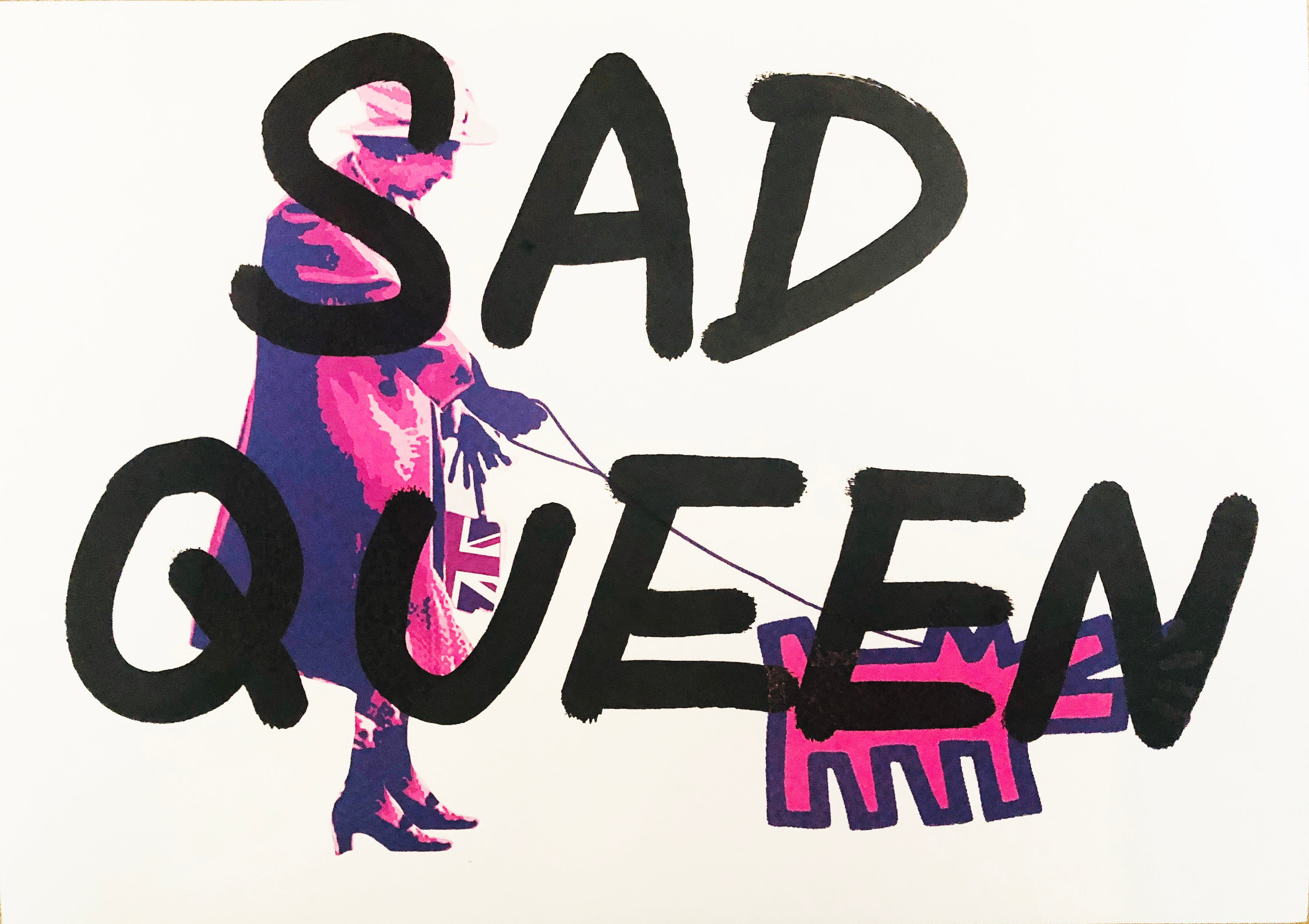 "Queen Dog ""SAD QUEEN"" (8"" x 12"") (Edition of 1)"