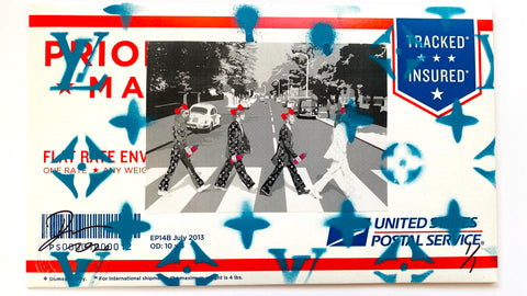 "USPS ENVELOPE ""Beatles Walk"" 25cm x 15cm (Edition of 1) (2020)"