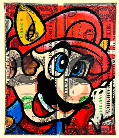 "$1 USD  ""$ Mario R"" (2020) Edition of 10"