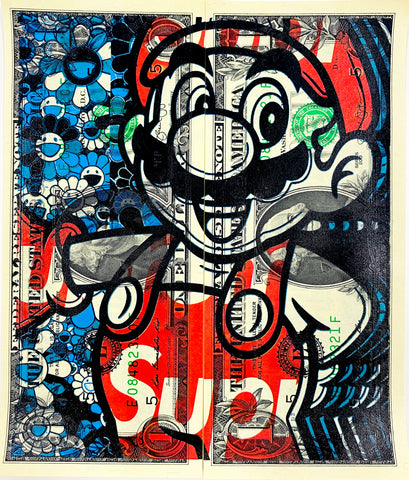 "$1 USD  ""$ Mario SUP"" (2020) Edition of 10"