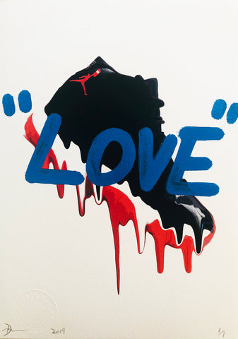 "AJ Drip ""LOVE"" (8"" x 12"") (Edition of 1)"