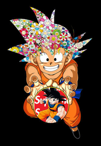 """Goku Super Flower 1"" 21 x 29.7 cm (Edition of 100) (2020)"