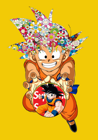 """Goku Super Flower 2"" 21 x 29.7 cm (Edition of 100) (2020)"