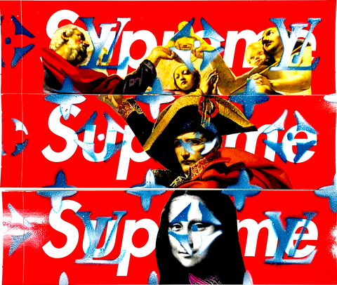 "Set of 3 ORIGINAL SUPREME STICKER ART ""A"" (2020) Edition of 1"