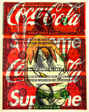"Set of 3 $1 USD  ""$ Girl Coke"" (2020) Edition of 10"