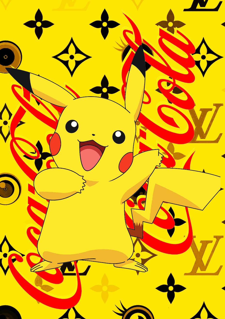 """PIKA COKE Y"" 45x32cm (Edition of 100) (2020)"