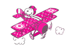 "Snoop War Plane Pink (6"" x 8"")"
