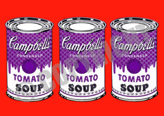 3 Can Soup Red Purple