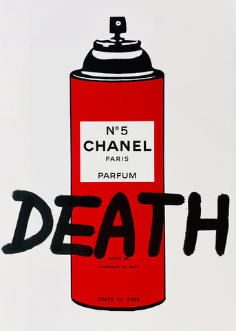 "C Spray ""DEATH"" (8"" x 12"") (Edition of 1)"