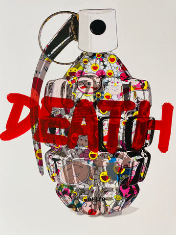 "Flower Bomb ""DEATH"" (8"" x 12"") (Edition of 1)"