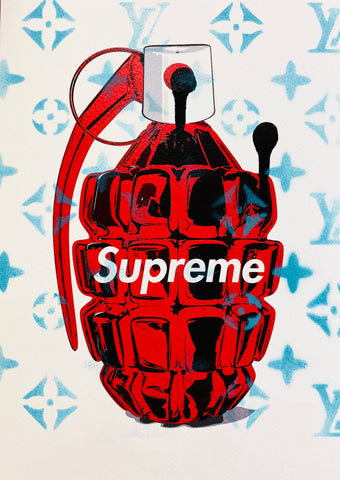 """L Sup Bomb Red"" (8"" x 12"") (Edition of 1)"