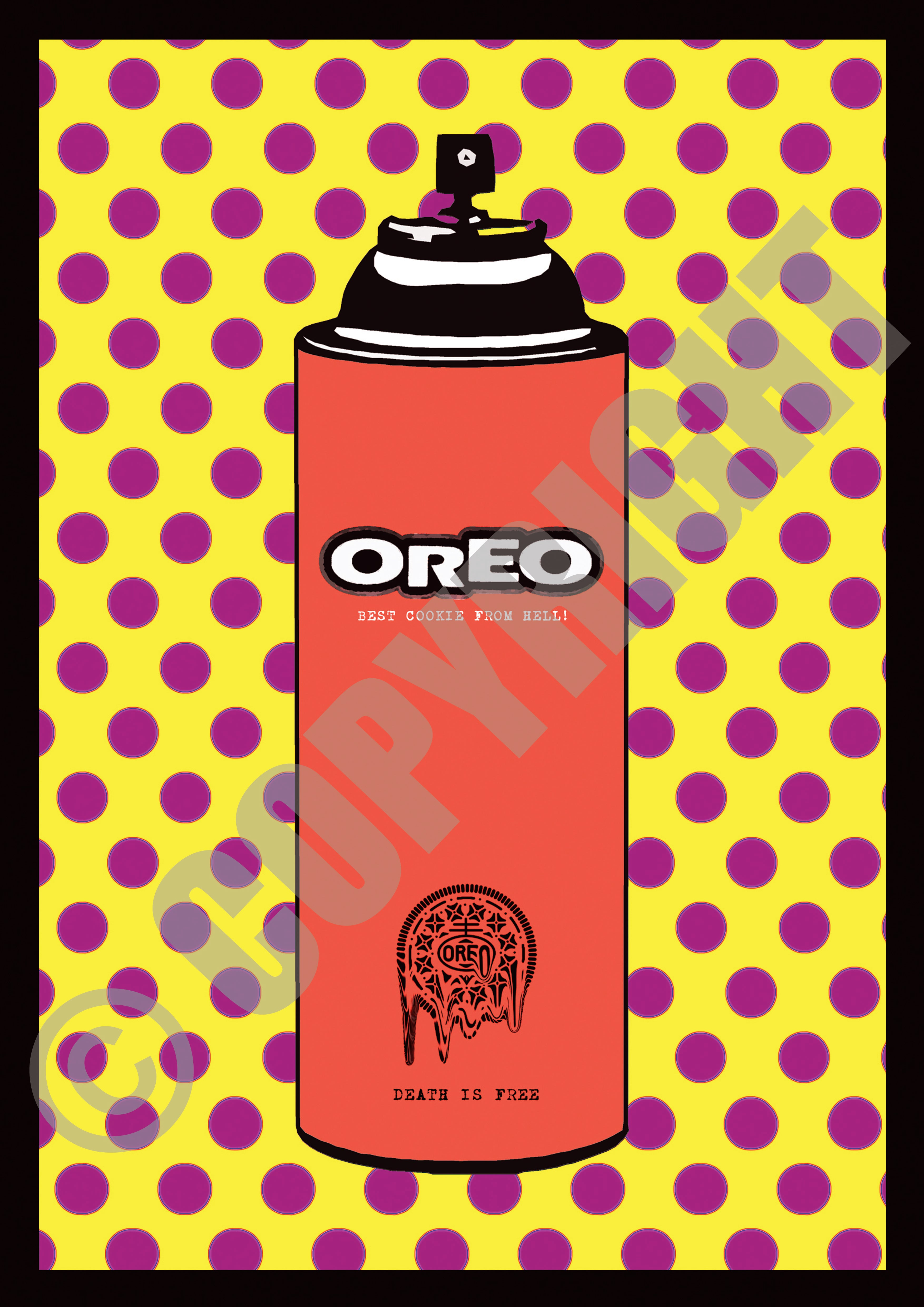 Cookies Dot Spray Yellow Pink (A4)