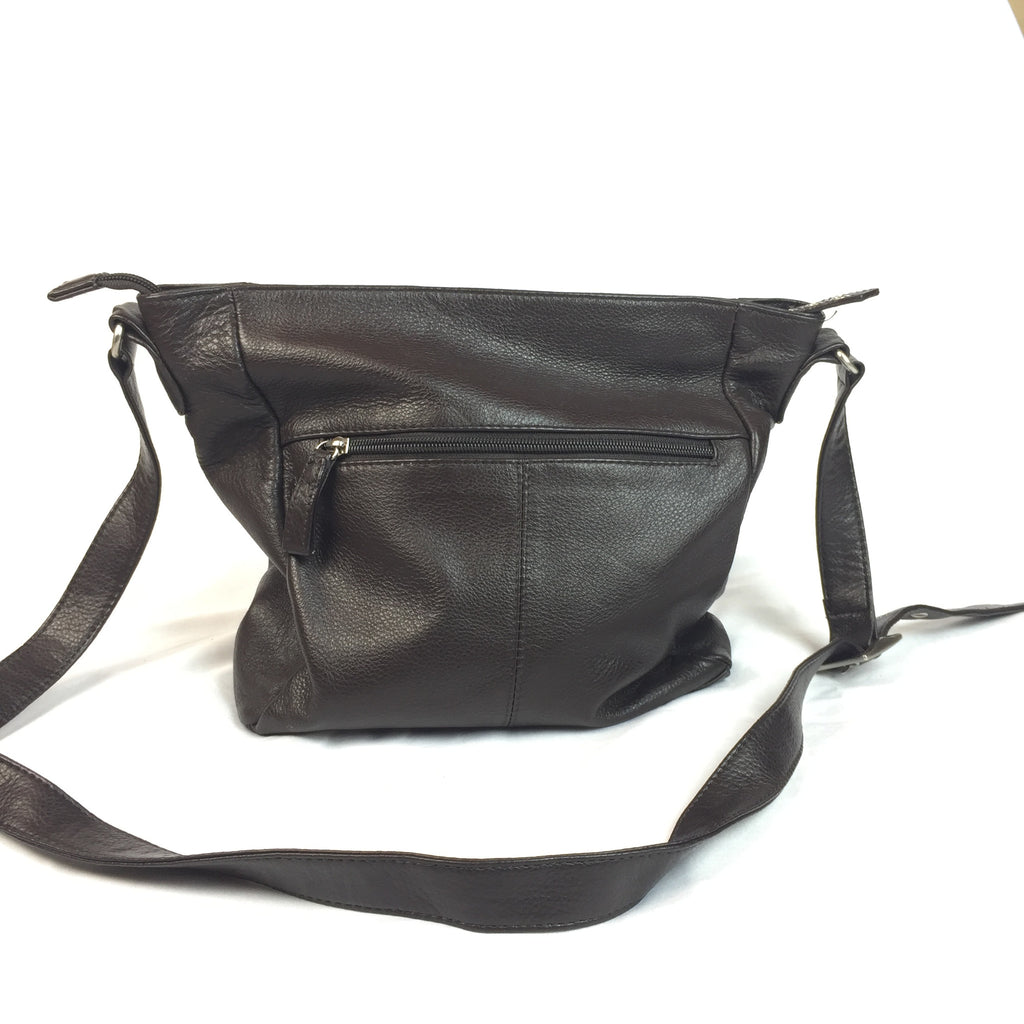 Simple Brown Crossbody Bag