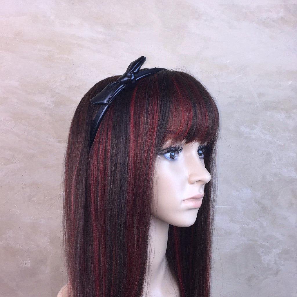 Black Leather Headband