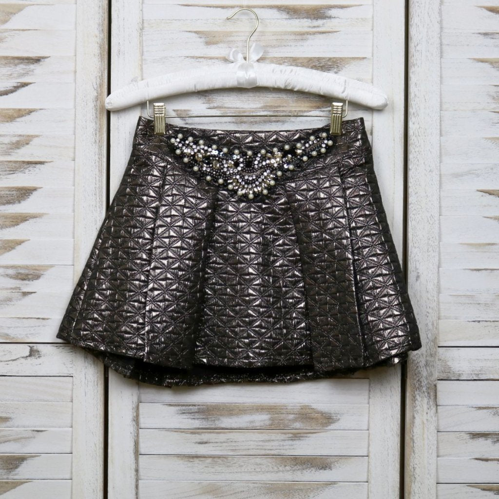 Metallic Pleated